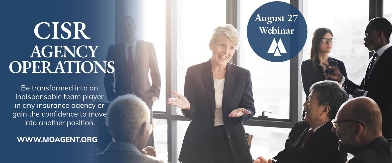 CISR Agency Operations Webinar